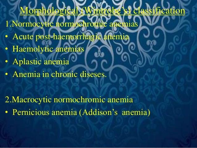 3. Macrocytic hypochromic anemias-  • Protein deficiency anemia  • Megaloblastic anemia  2.Microcytic hypochromic anemias ...