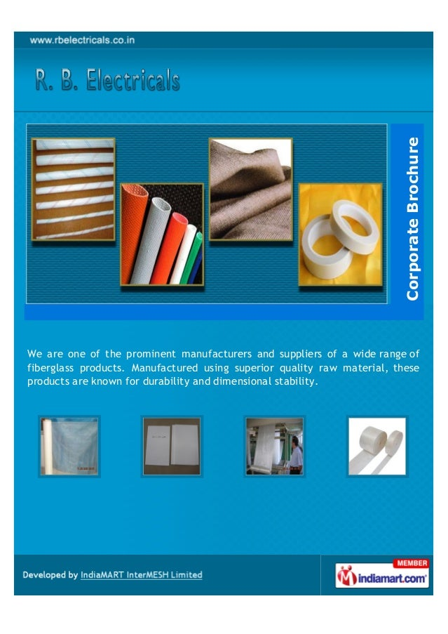 Corporate BrochureWe are one of the prominent manufacturers and suppliers of a wide range offiberglass products. Manufactu...
