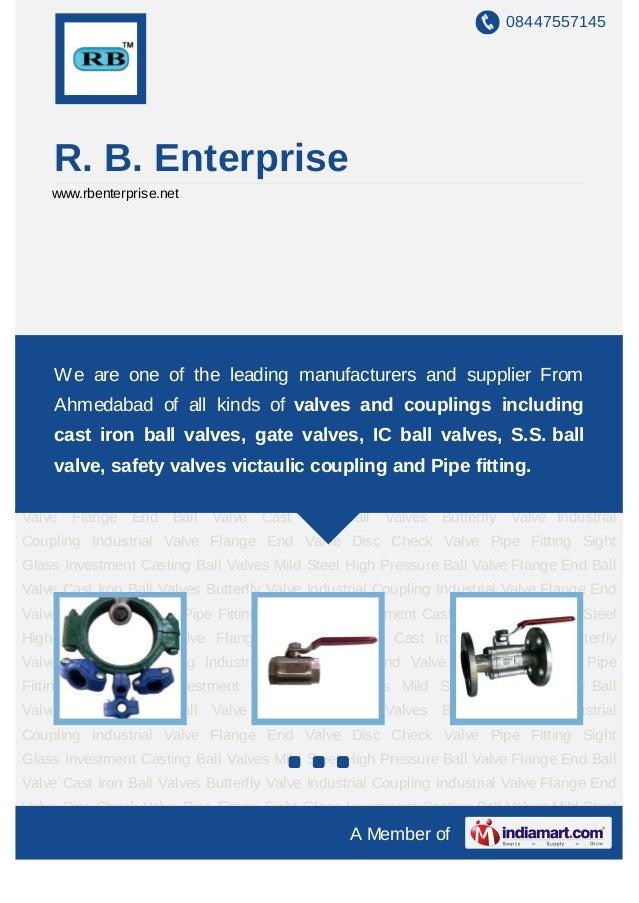 08447557145    R. B. Enterprise    www.rbenterprise.netIndustrial Coupling Industrial Valve Flange End Valve Disc Check Va...