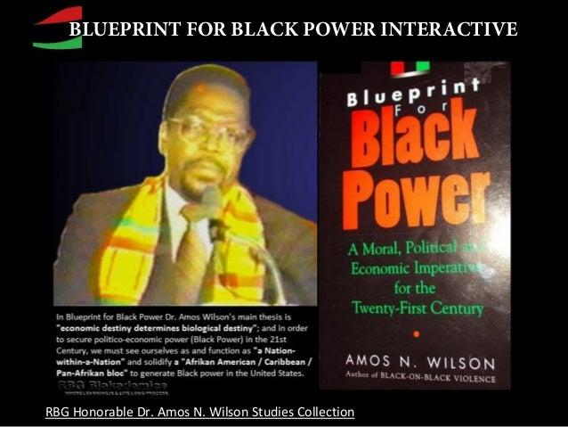 Rbg blueprint for black power interactivethe nationhood series blueprint for black power interactive rbg honorable dr amos n wilson studies collection malvernweather Images