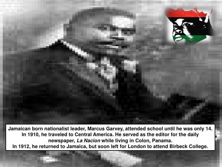 An analysis of the negro race through marcus mosiah garvey