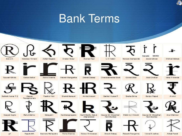 Bank Terms             Vinay Shukla             Roll no.66