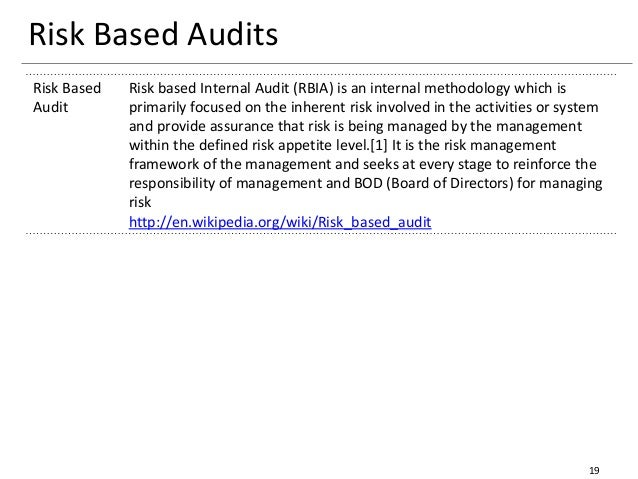 risk based audit approach Risk based internal audit this book takes a unique approach to risk-based auditing by incorporating risk management and internal audit concepts to create a new risk-based internal audit framework, while still being consistent with internal auditing standards.