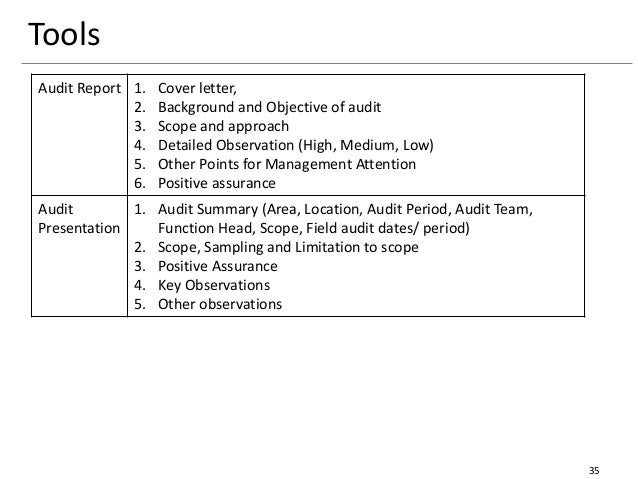 Specific Financial Amounts 35 Tools Audit Report