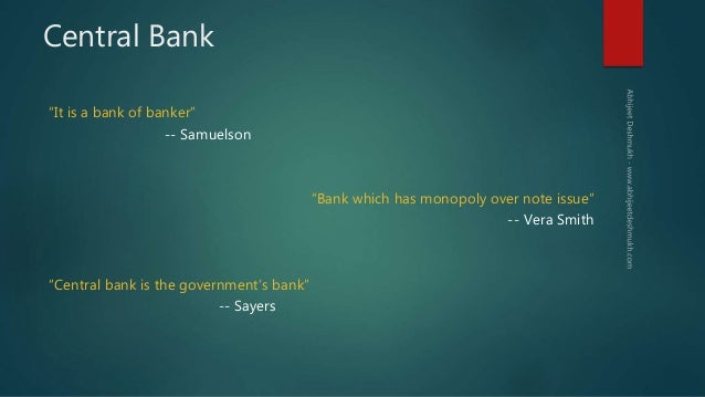Reserve Bank of India & Indian Monetary Policy Slide 2