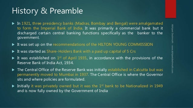 Reserve Bank of India & Indian Monetary Policy Slide 3