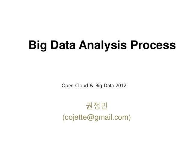 Big Data Analysis Process 권정민 (cojette@gmail.com) Open Cloud & Big Data 2012