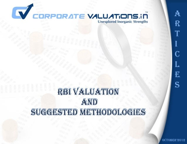 RBI guidelines for valuation of shares                       optimum value scenario (from exchange control perspective). B...