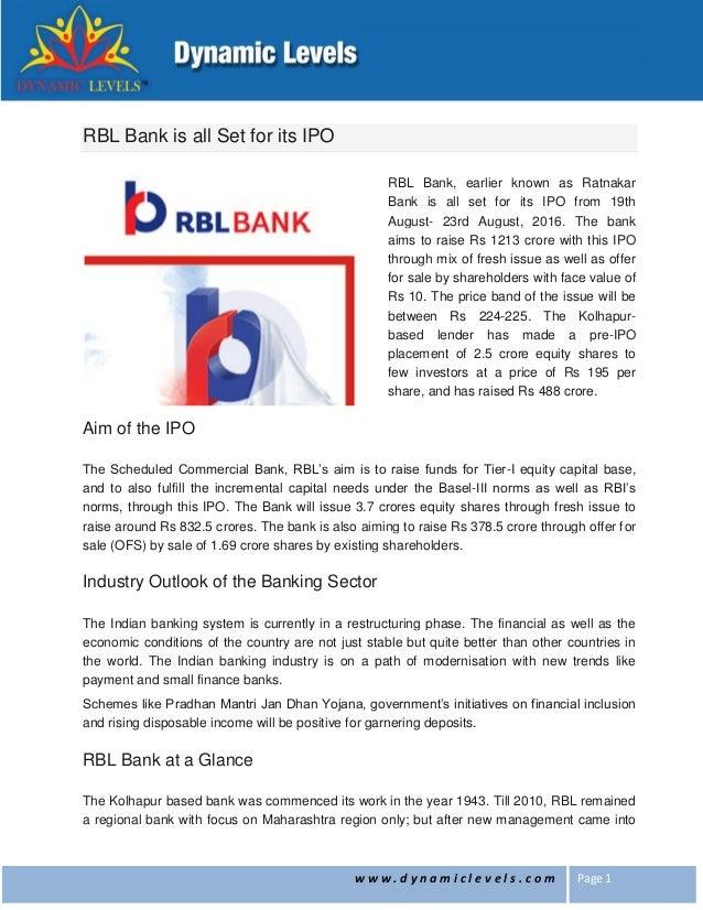 Www ratnakar bank ipo price