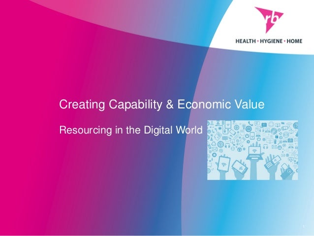 Creating Capability & Economic Value Resourcing in the Digital World 1