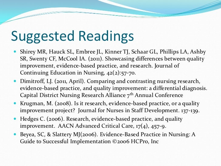 What is the difference between the nursing research process research utilization and evidence based
