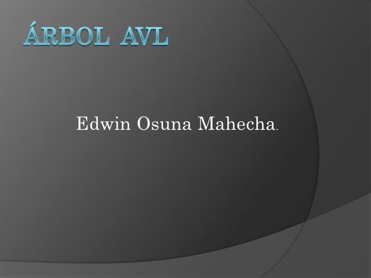 Edwin Osuna Mahecha.