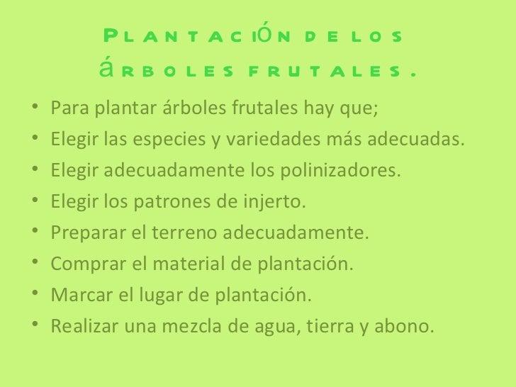 Rboles frutales - Plantar arboles frutales ...