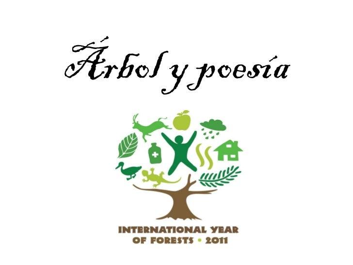 Árbol y poesía