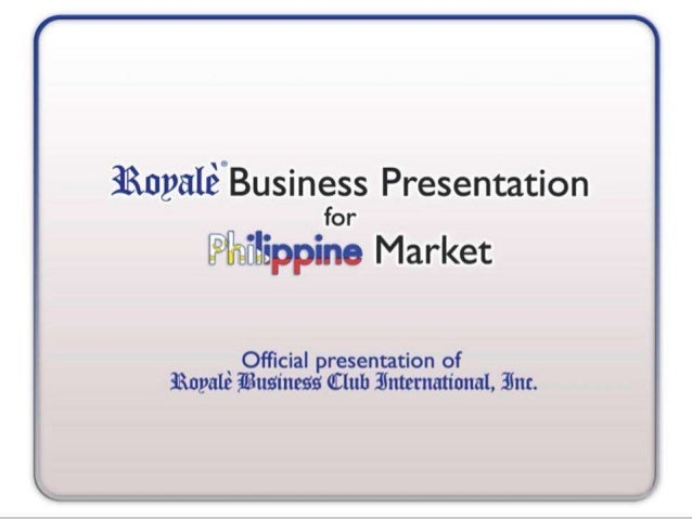 "4 _4_,  /  3RnyaIé""Business Presentation for Wafiflippine Market  ' Official presentation of Sknyale fiusinesfi Qtluh Zhttctna..."
