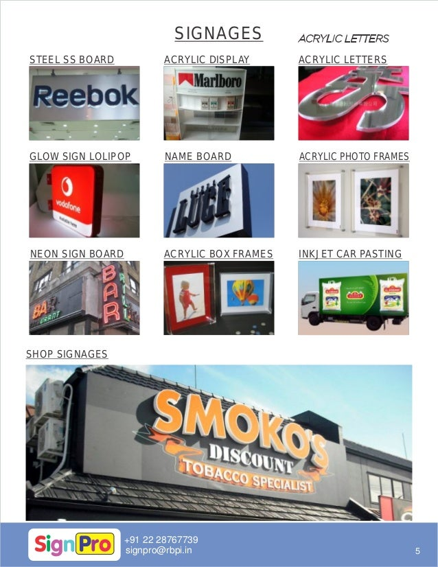 SIGNBOARDS, ACRYLIC BOARDS, GLOW SIGN BOARDS