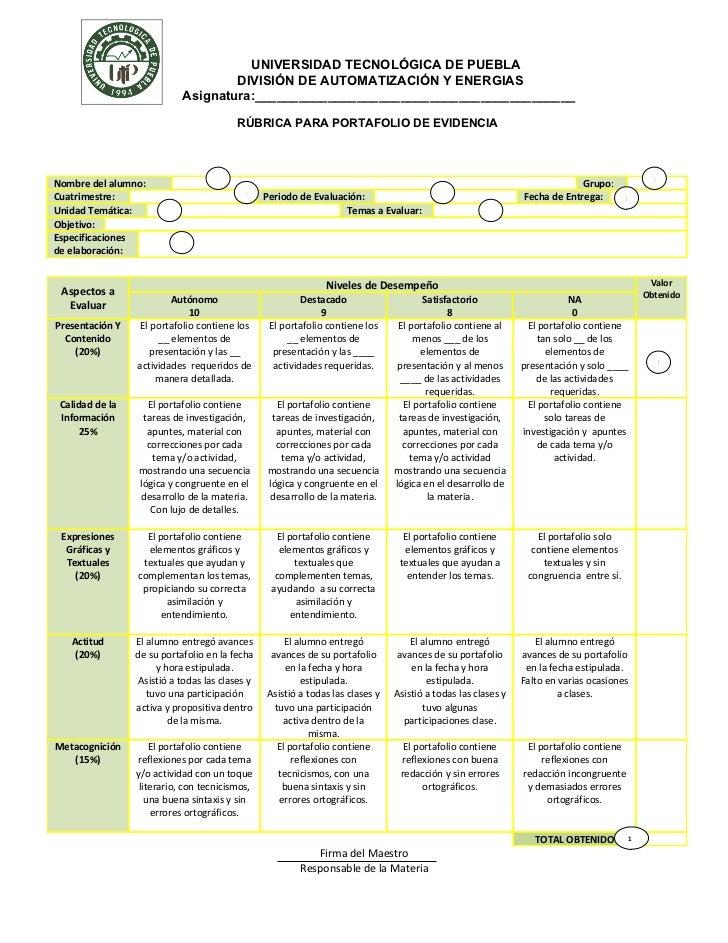 UNIVERSIDAD TECNOLÓGICA DE PUEBLA                                     DIVISIÓN DE AUTOMATIZACIÓN Y ENERGIAS               ...