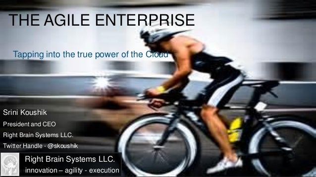 THE AGILE ENTERPRISE   Tapping into the true power of the CloudSrini KoushikPresident and CEORight Brain Systems LLC.Twitt...