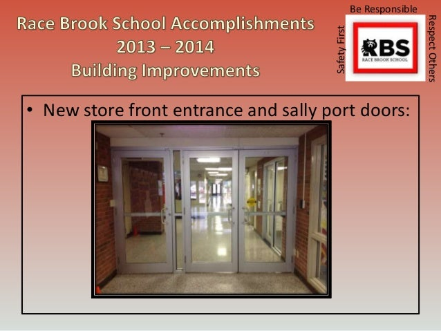 Race Brook School 2014 Annual Report