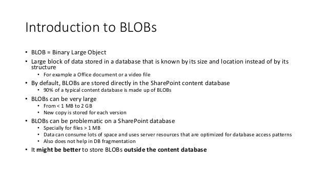 RBS in SharePoint Slide 2