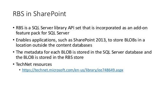 RBS in SharePoint Slide 3