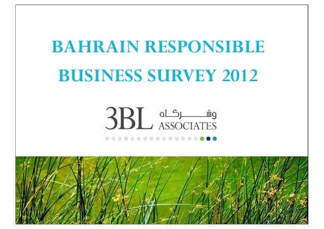 BAHRAIN RESPONSIBLE BUSINESS SURVEY 2012