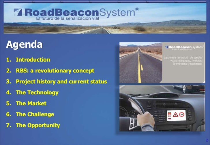 Road Beacon System (RBS) project presentation Slide 2