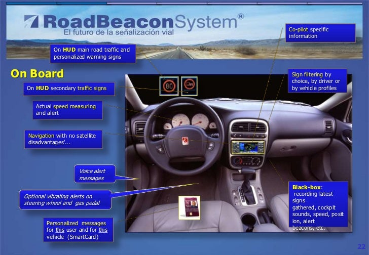 Co-pilot specific                                           information            On HUD main road traffic and           ...