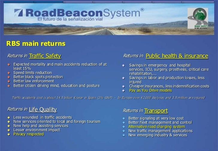 RBS main returnsReturns in Traffic Safety                                                      Returns in Public health & ...