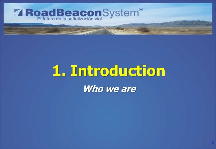Road Beacon System (RBS) project presentation Slide 3