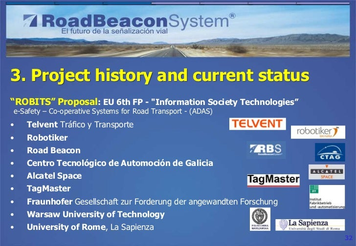"""3. Project history and current status""""CABINTEC"""" Project    Supported by the Spanish Ministry for Innovation and Science as..."""