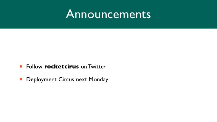 Rocket Circus on Code Review Slide 2