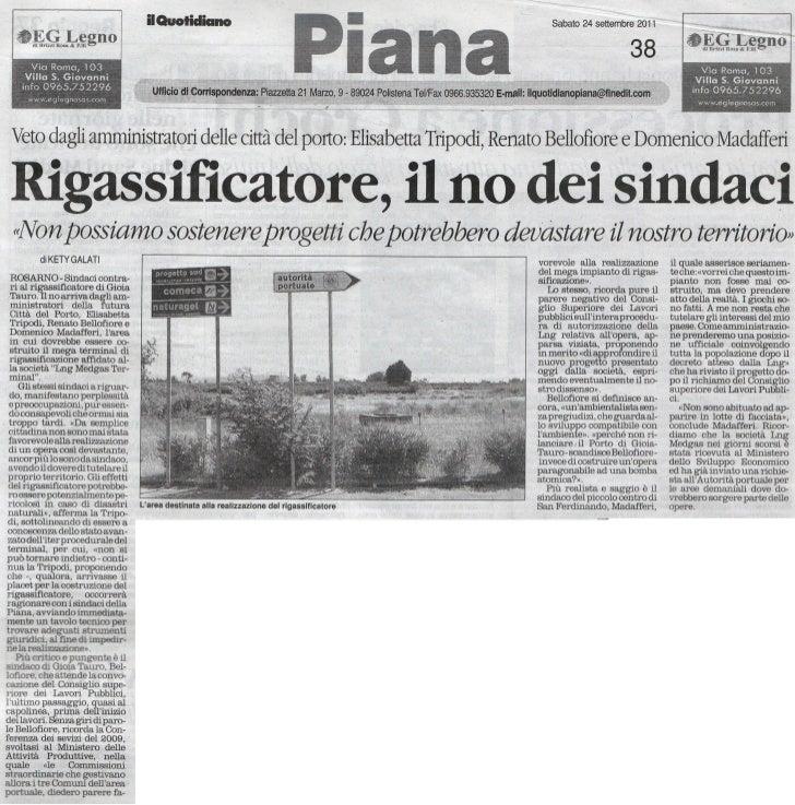 Il Quotidiano della Calabria del 24/09/2011