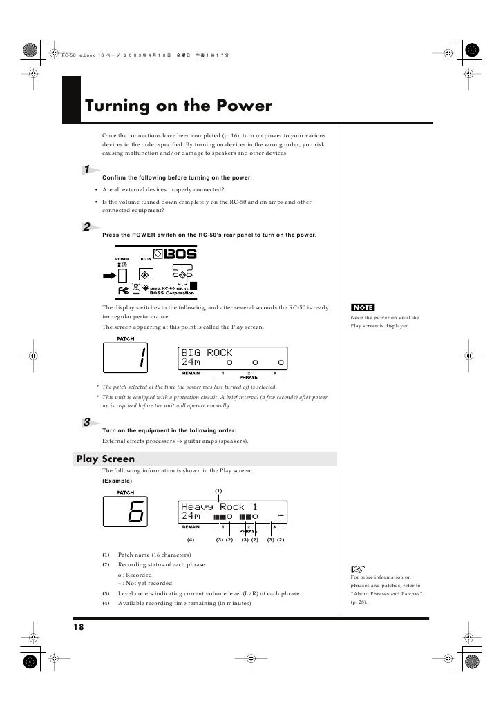 Turning on the Power           Once the connections have been completed (p. 16), turn on power to your various           d...