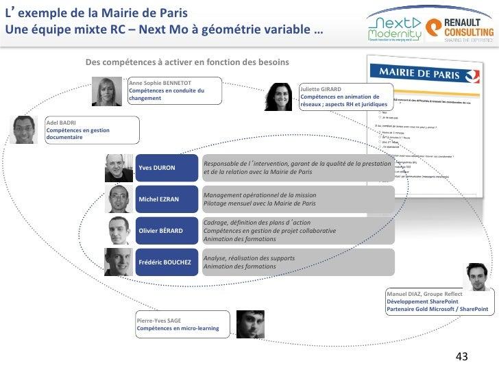 L'exemple de la Mairie de ParisUne équipe mixte RC – Next Mo à géométrie variable …                   Des compétences à ac...