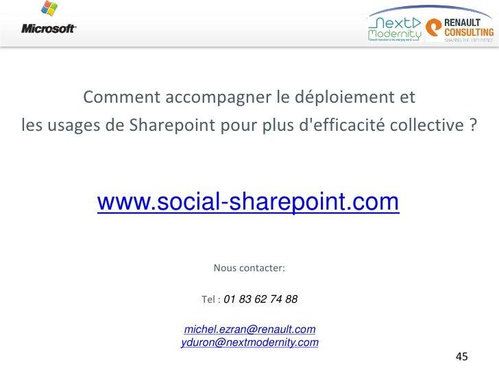 Comment accompagner le déploiement etles usages de Sharepoint pour plus defficacité collective ?          www.social-share...
