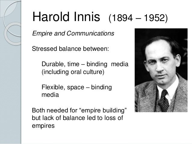 Harold Innis and the Oral Tradition