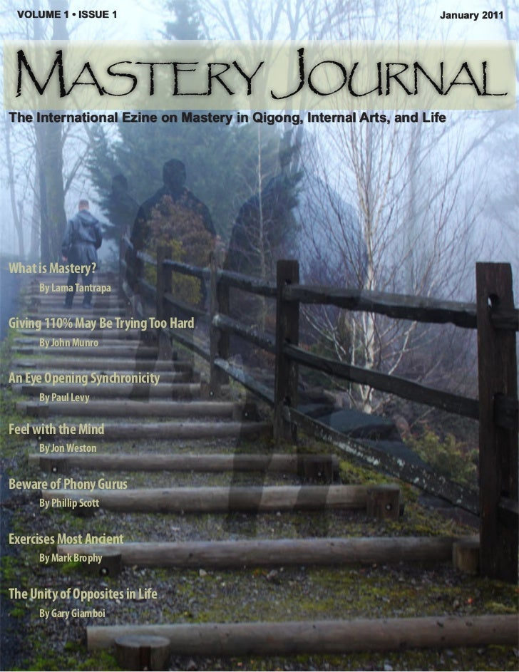 VOLUME 1 • ISSUE 1                                                January 2011Mastery JournalThe International Ezine on Ma...