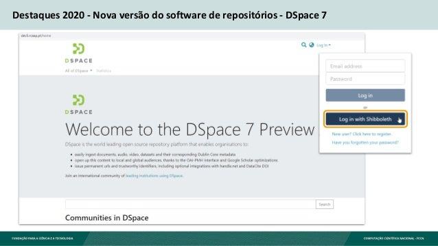 Destaques 2020 - Nova versão do software de repositórios - DSpace 7