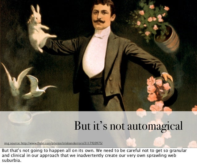 See the similarities?                                                But it's not automagical img source: http://www.flickr...