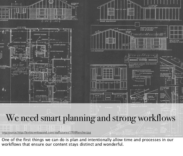 We need smart planning and strong workflowsimg source: http://levittownbeyond.com/myPictures/1958Rancher.jpgOne of the firs...