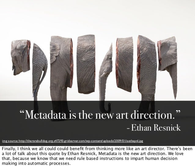 """""""Metadata is the new art direction.""""                                                                                      ..."""