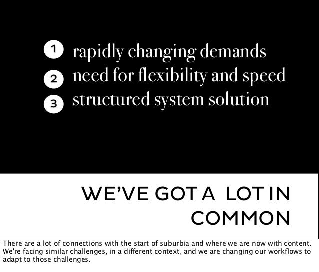 1     rapidly changing demands              2     need for flexibility and speed              3     structured system solu...