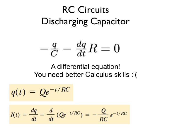 how to find time constant of rc circuit