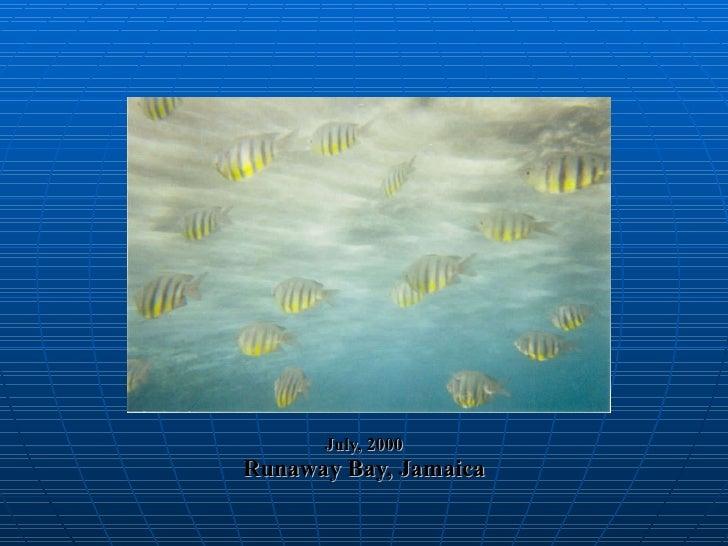 July, 2000 Runaway Bay, Jamaica