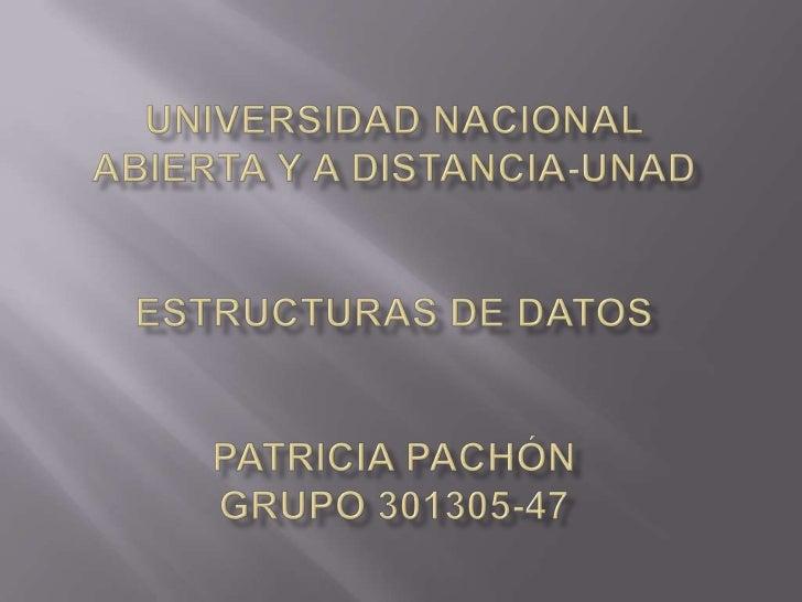    NOMBRE: Beatriz Patricia Pachón Aguilar   CIUDAD DE RESIDENCIA: Zipaquirá   CEAD: Zipaquirá   CORREO ELECTRONICO:  ...
