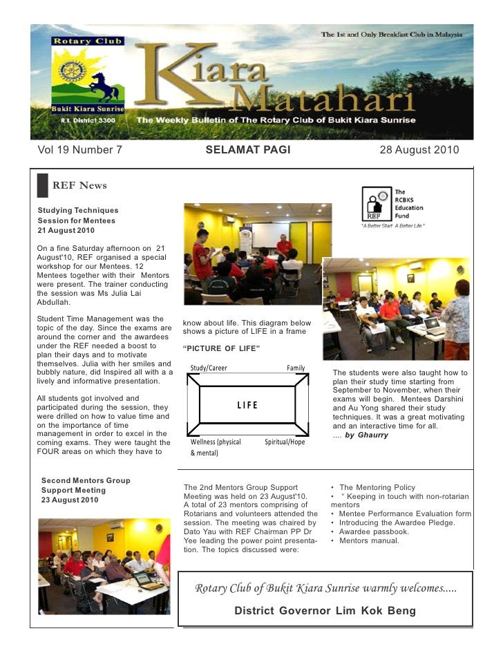 Vol 19 Number 7                                   SELAMAT PAGI                                    28 August 2010       REF...