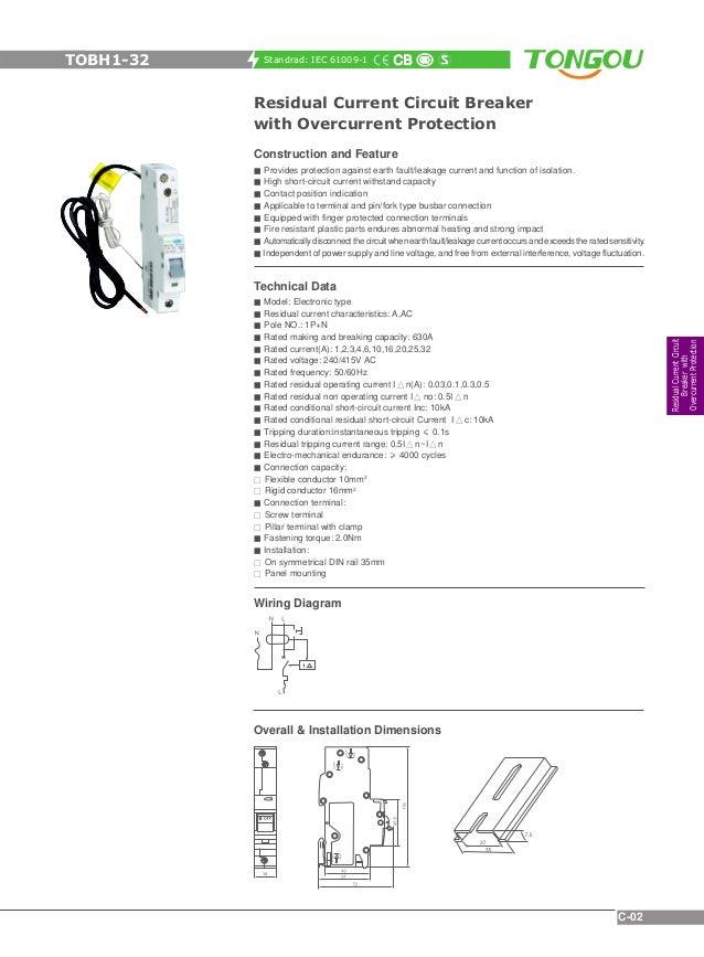 rcbo catalogue