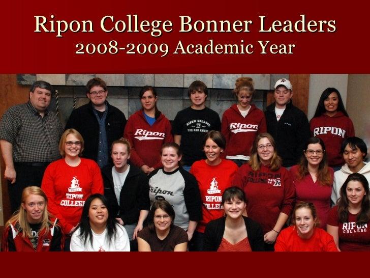 Ripon College Bonner Leaders 2008-2009 Academic Year