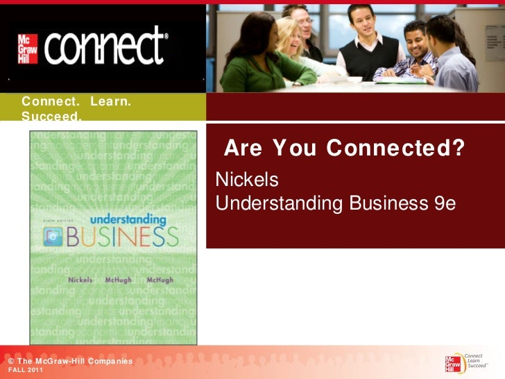 Are You Connected? Nickels Understanding Business 9e BOOK COVER Paste Your  Book Cover Image Here